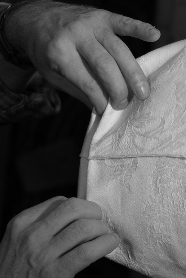 fabriquer un matelas en laine | coudre les 4 coins